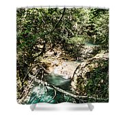 The Turquoise Waters Of The Forest River No2 Shower Curtain