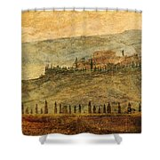 The Tuscan Landscape Near Pienza Shower Curtain