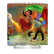 The Two Beasts Of Revelations Shower Curtain