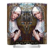 the two Marys at the Alhambra Shower Curtain