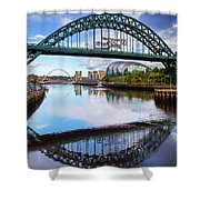 The Tyne Road Bridge With The Sage Shower Curtain