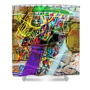 The Tzaddik Lives On Emunah 22a Shower Curtain