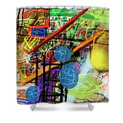 The Tzaddik Lives On Emunah 22c Shower Curtain