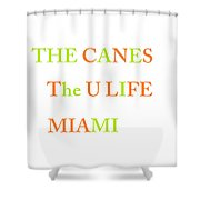 The U Shower Curtain