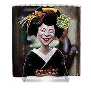 The Ugly Geisha Shower Curtain