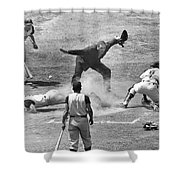 The Umpire Calls It Safe Shower Curtain