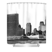 The Un And Chrysler Buildings Shower Curtain