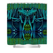 The Under Water Temple Shower Curtain
