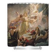 The Undines Or The Voice Of The Torrent Shower Curtain by Ernest Augustin Gendron