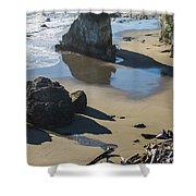 The Unexplored Beach Shower Curtain