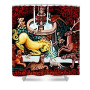 The Unicorn Purifies The Water Shower Curtain