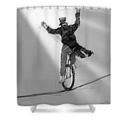 The Unicyclist  Shower Curtain