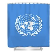 The United Nations Flag  Authentic Version Shower Curtain