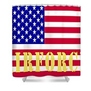 The United States Airforce Shower Curtain