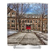 The University Of Wisconsin Education Building Shower Curtain