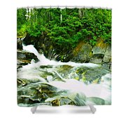 The Upper Paradise River Shower Curtain