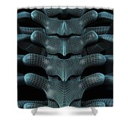 The Upper Spine Wireframe Shower Curtain