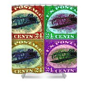 The Upside Down Biplane Stamp Four - 20130119 Shower Curtain