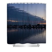 The Urge To Sail Away - Violet Sky Reflecting In Lake Ontario In Toronto Canada Shower Curtain