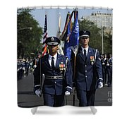 The U.s. Air Force Color Team Shower Curtain