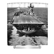 The U.s. Aircraft Carrier Uss Boxer Shower Curtain