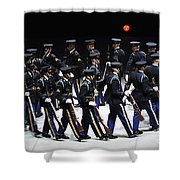 The U.s. Army Drill Team Performs Shower Curtain
