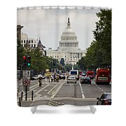 The Us Capitol Building From Pennsylvania Avenue Shower Curtain