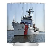 The U.s. Coast Guard Cutter Valiant Shower Curtain