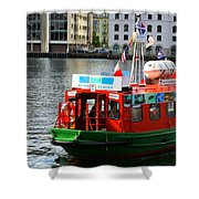 The Vagen Harbour Ferry Shower Curtain