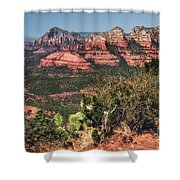 The Valley Below Shower Curtain