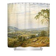 The Valley Of Wyoming Shower Curtain