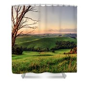 The Valley Shower Curtain by Ray Warren