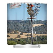 The Valley Windmill Shower Curtain