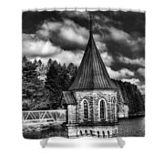The Valve Tower Mono Shower Curtain