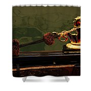The Venetian Ferrari Symbol - A Gondola Seahorse Shower Curtain
