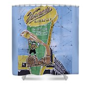 The  Vernor's Plant Shower Curtain by Kate Ford