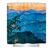 The Very Blue Ridge Shower Curtain