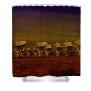 The Very Large Array In New Mexico Shower Curtain