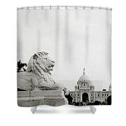 The Victoria Memorial In Calcutta Shower Curtain