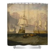 The Victory Returning From Trafalgar Shower Curtain