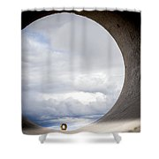The View Above Shower Curtain by Fran Riley