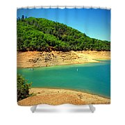The View At Shasta Lake Shower Curtain