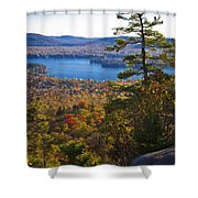 The View From Bald Mountain - Old Forge New York Shower Curtain