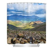 Keswick And Derwent Water From Crag Hill Shower Curtain