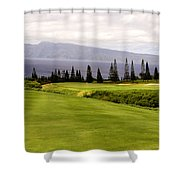 The View Shower Curtain