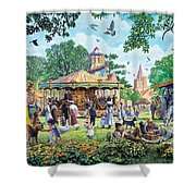 The Village Fayre  Shower Curtain