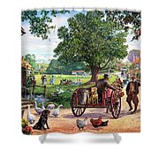 The Village Green Shower Curtain