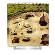 The Village In Africa Shower Curtain