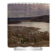 The Village Of Cold Spring And The Hudson River Shower Curtain