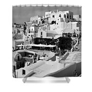 The Village Of Oia 2 Shower Curtain